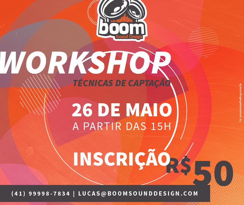 WORKSHOP TÉCNICAS DE CAPTAÇÃO